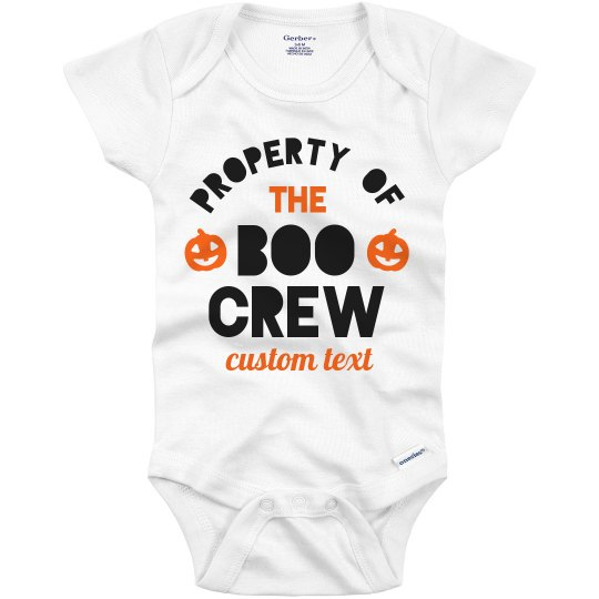 Property of the Boo Crew Custom Baby Onesie