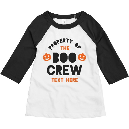 Property of the Boo Crew Toddler Raglan