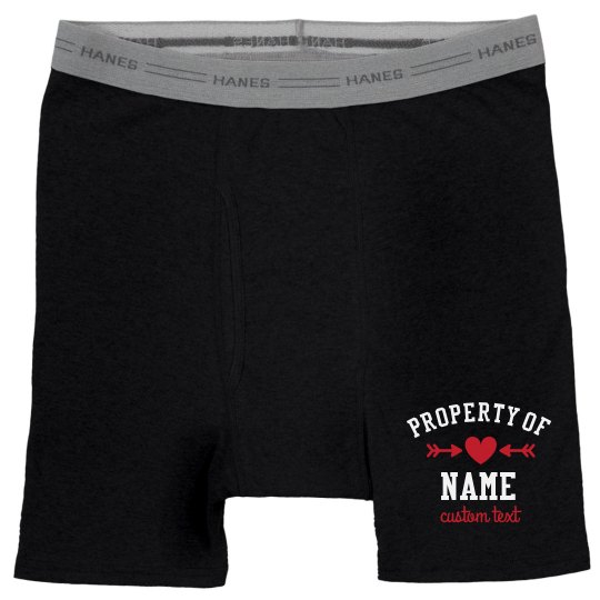 Property of Valentine's Day Boxer Briefs