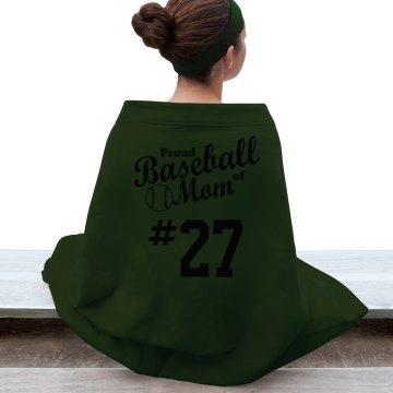 Proud Baseball Mom Blanket