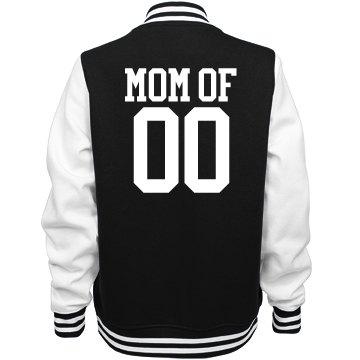 Proud Baseball Mom Custom Varsity Jacket