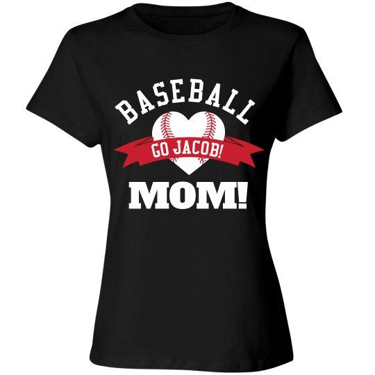 Proud Baseball Mom Shirt With Custom Name