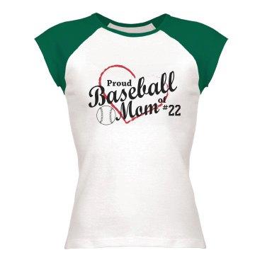 Proud Baseball Mom Tee