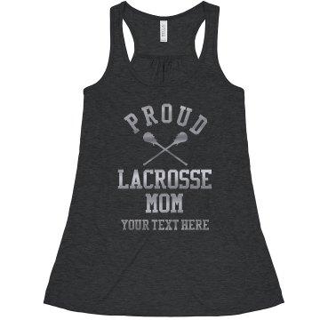 Proud Custom Silver Lacrosse Mom