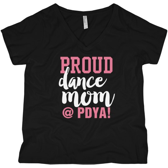 Proud Dance Mom in Black/ No Glitter
