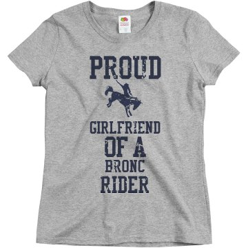Proud girlfriend of a bronc rider
