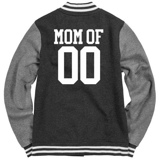 Proud Hockey Mom Varsity Jacket With Name Number