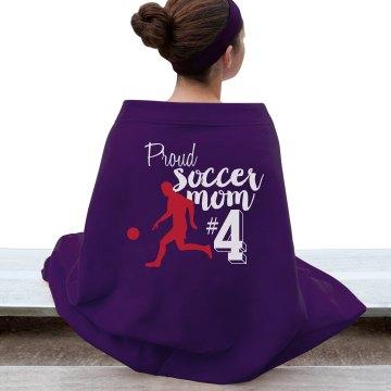 proud soccer mom blanket