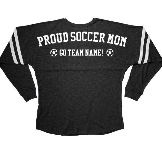 Proud Soccer Mom Trendy Long Sleeve Jersey