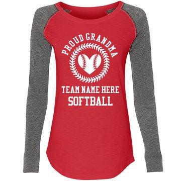 Proud Softball Grandma Custom Team