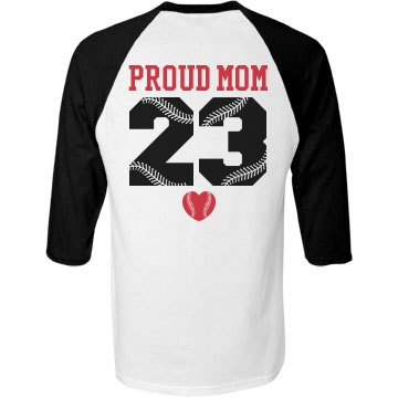 Proud Softball Mom Custom Sports Jersey