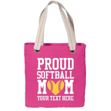 Proud Softball Mom Custom Text