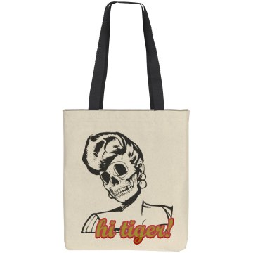"Psychobilly ""Hi Tiger"" Canvas Tote Bag"