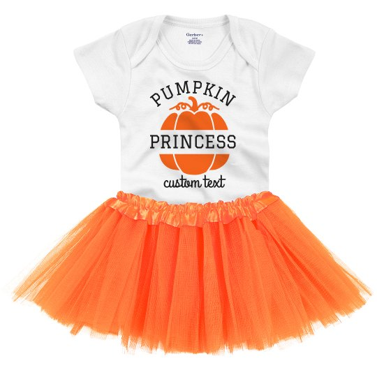 Pumpkin Princess Adorable Baby Onesie & Tutu