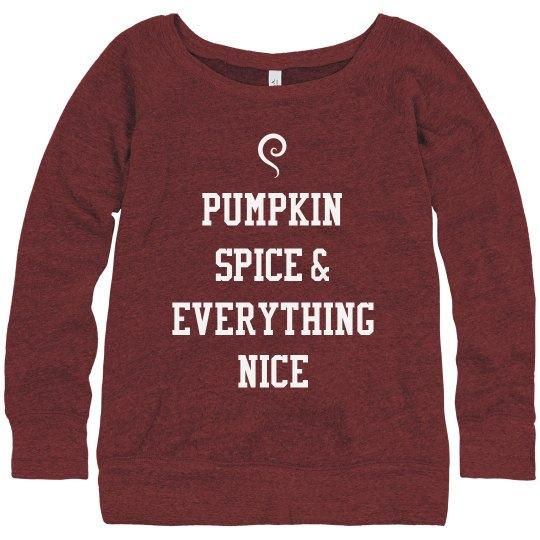 Pumpkin Spice Is Nice