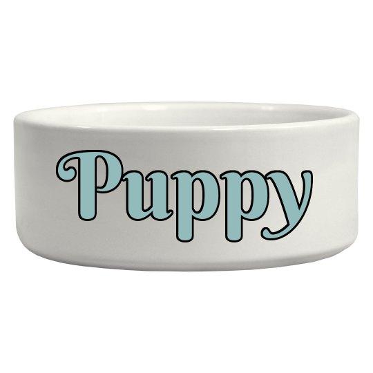 Puppy Pet Bowl - Blue