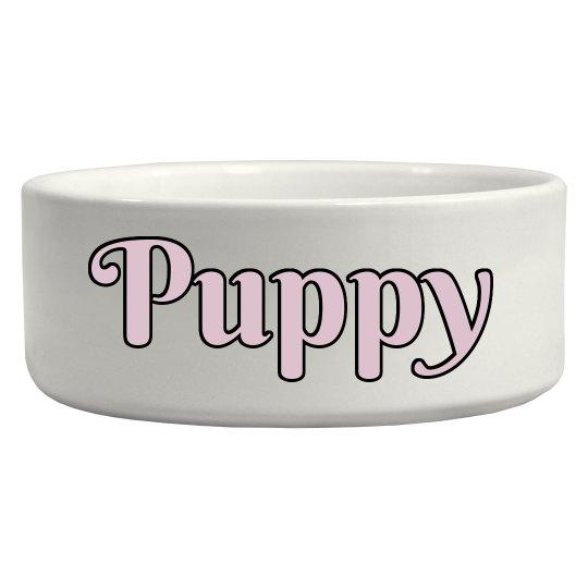 Puppy Pet Bowl - Pink