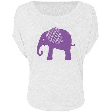 Purple Graphic Elephant