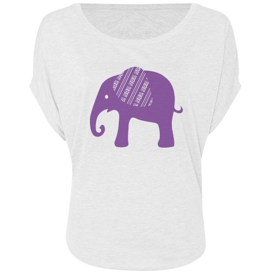 Purple Graphic Elephant
