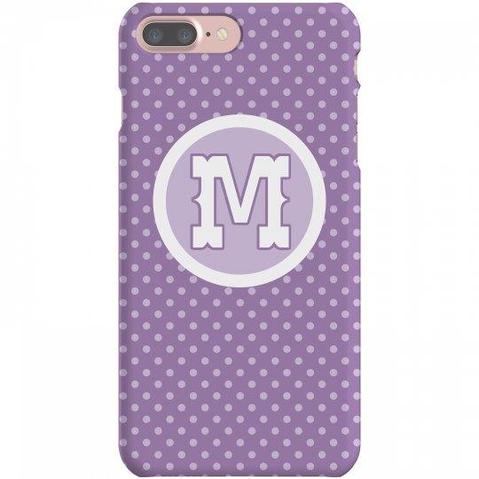 Purple Polka Dot Initial Monogram