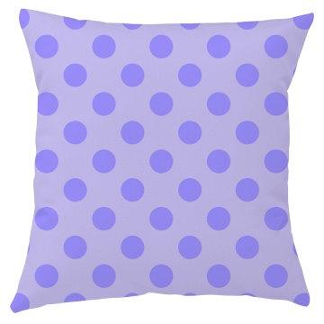 Purple Polka Dot Throw Pillow Cover