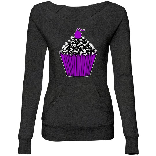 Purple Skull Cupcake