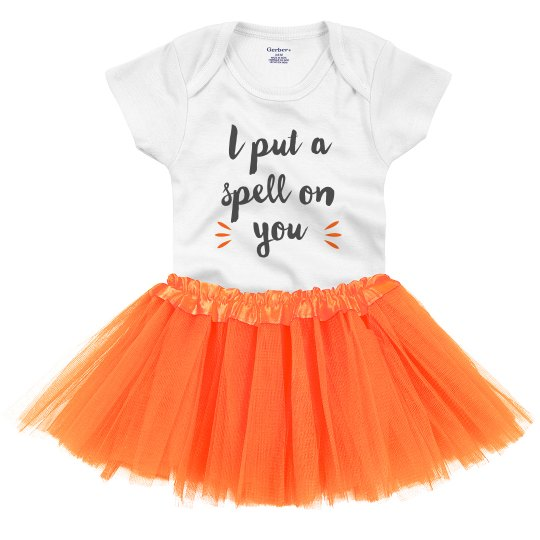 Put a Spell on You Adorable Halloween Onesie & Tutu
