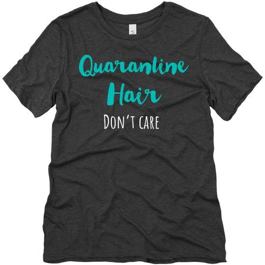 Quarantine hair tee gray