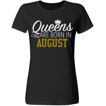 Queen Are Born Tee- Black