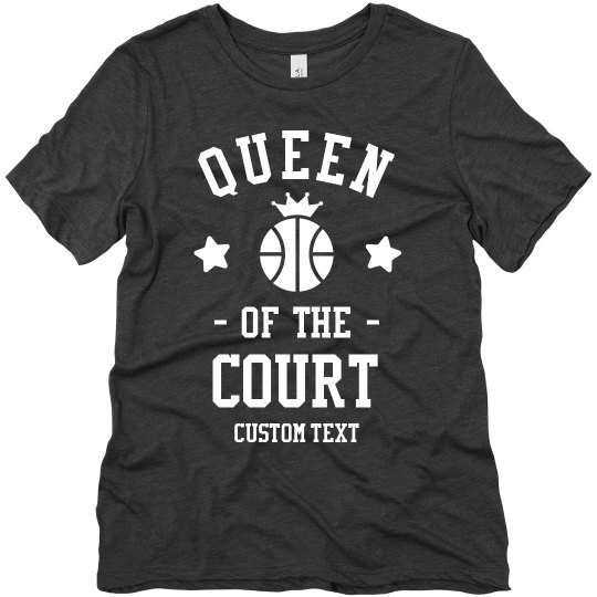 Queen of the Court Custom Basketball Tee