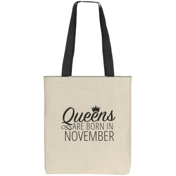 Queens Are Born In November Gift Bag