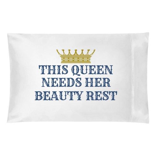 Queen's Beauty Rest Blue
