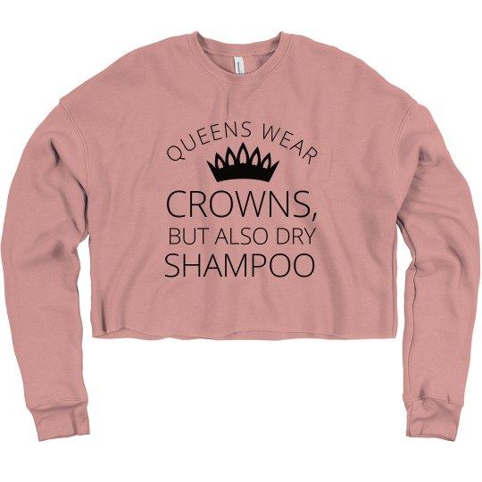 Queens Wear Crowns Crop Sweatshirt