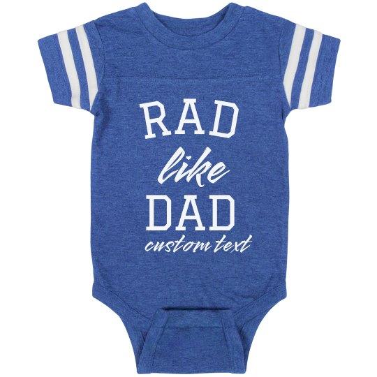 Rad Like Dad Custom Vintage Baby