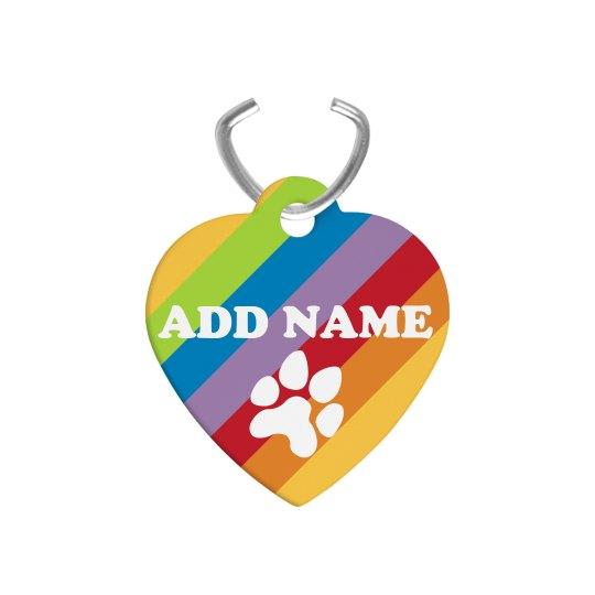 Rainbow Custom Pet Tag