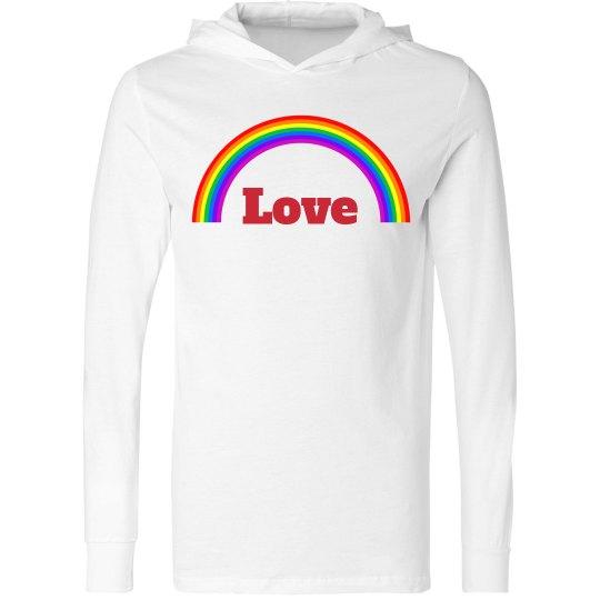 Rainbow luv hoodie