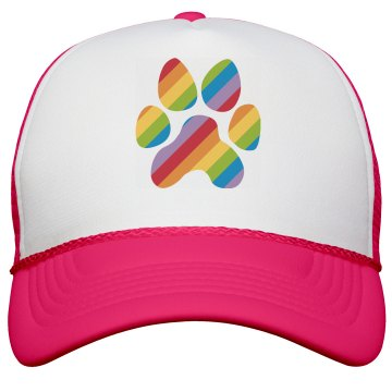 Rainbow Paw Print