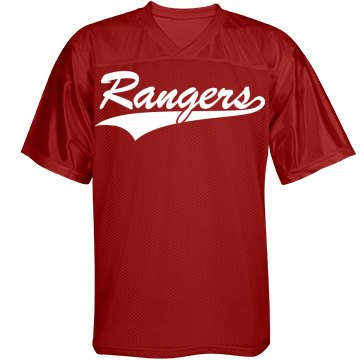 Rangers custom name and number sports jersey