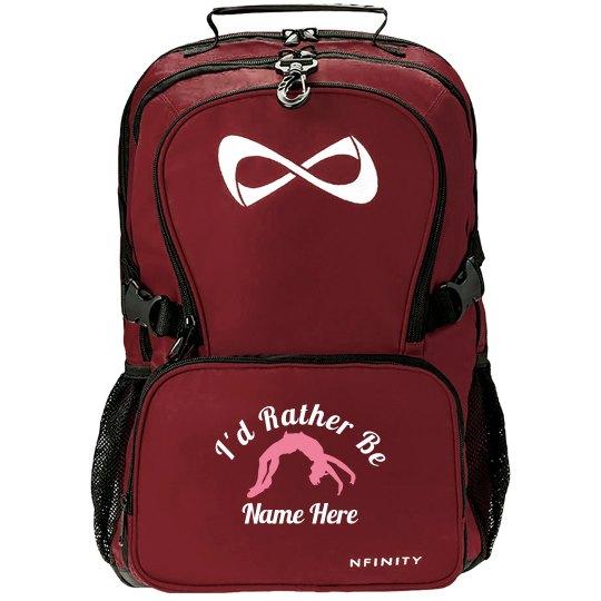 Rather Be Cheering Custom Name Nfinity Backpack