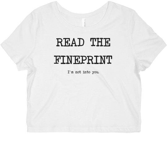 Read the Fineprint