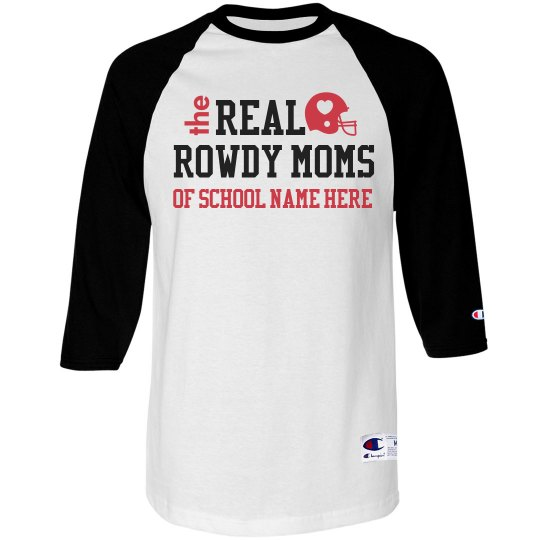 Real Rowdy Football Moms Custom Jerseys