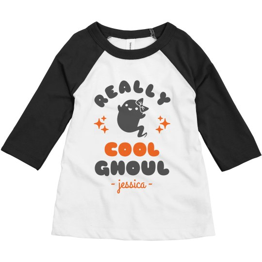Really Cool Ghoul Toddler Raglan