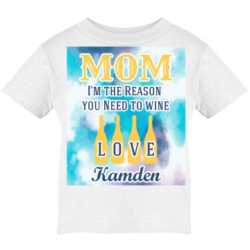 Reason why mom drinks wine kid tee