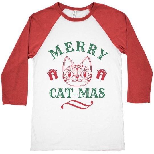 Red & Green Merry Cat-Mas