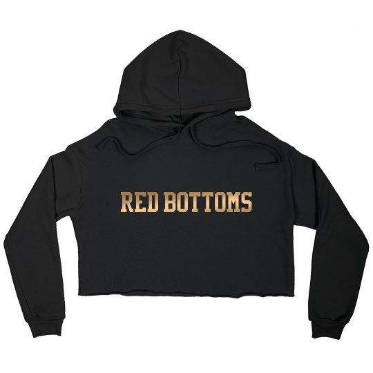 Red Bottoms Bella Crop Fleece- Metallic