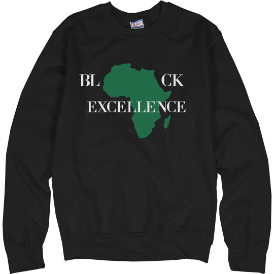 Red Bottoms- Black Excellence Sweat Shirts