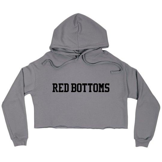 Red Bottoms Crop Hoody