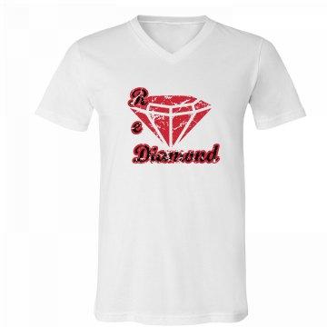 Red Diamond Men V neck Canvas