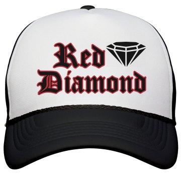 Red Diamond Trucker Hat