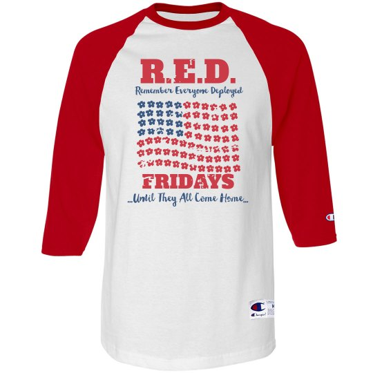 Red Friday Flag Distressed